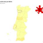Mapa interativo que mostra situação do coronavírus em Portugal